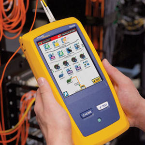 Fiber cable splicing and Fluke test